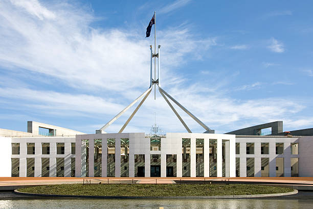 Panoramic view of the Parliament House stock photo