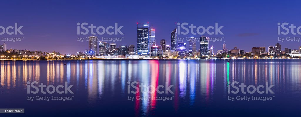 Panoramic View of the Perth City Skyline in Australia royalty-free stock photo