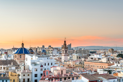 Panoramic view of the roofs of Valencia
