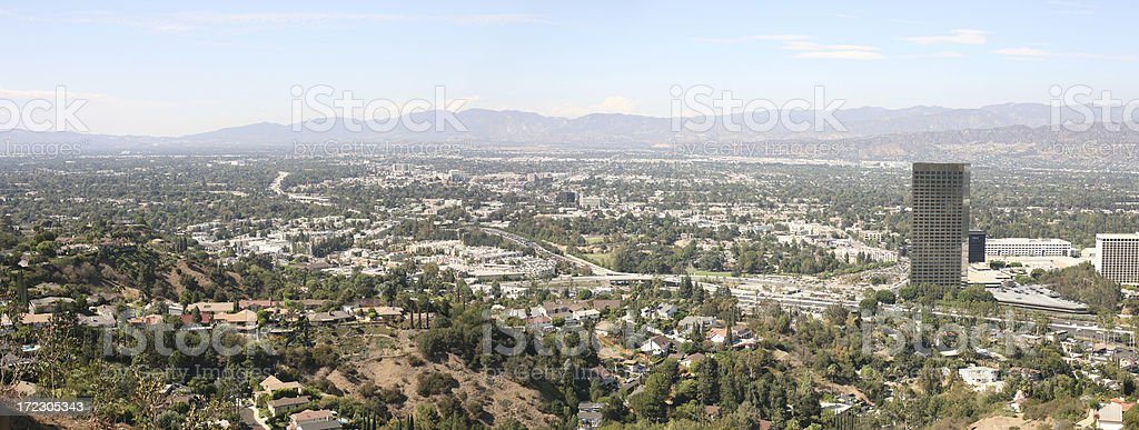 Panoramic View Of The San Fernando Valley stock photo