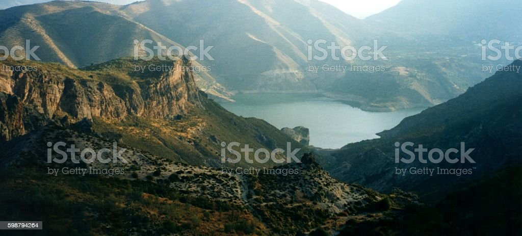 Panoramic view of the Sierra Nevada, Spain stock photo