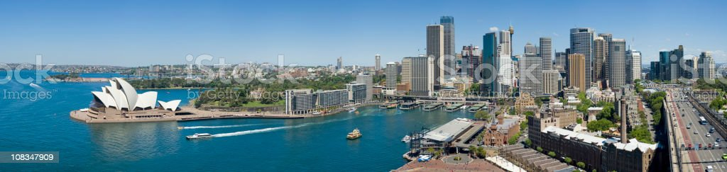 Panoramic View of the Sydney City Skyline in Australia royalty-free stock photo