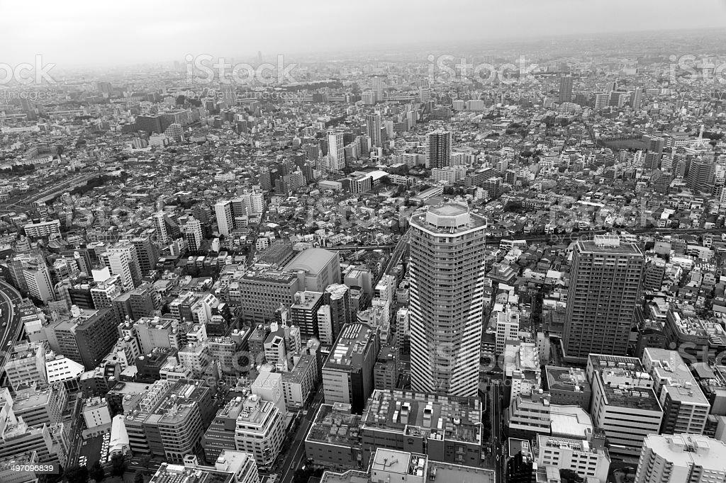Panoramic view of Tokyo in Japan stock photo