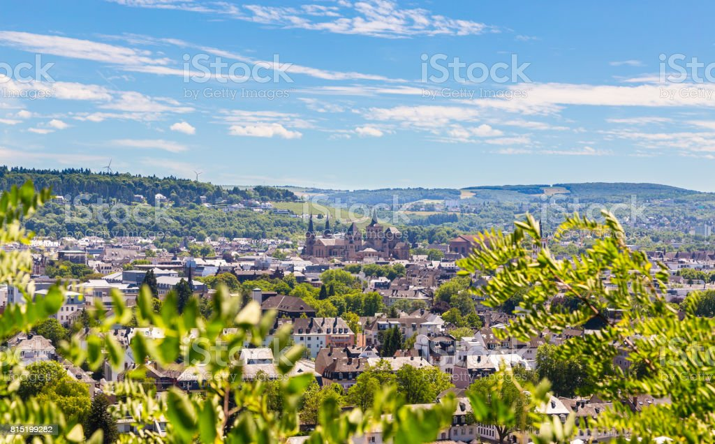 Panorama von Trier Rheinland-Pfalz Deutschland – Foto