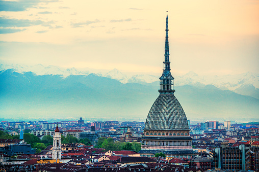 Panoramic View of Turin (Torino), Italy