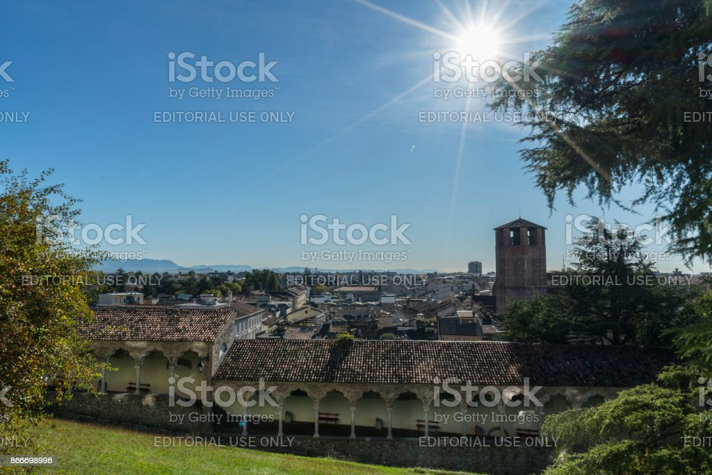 A panoramic view of Udine stock photo