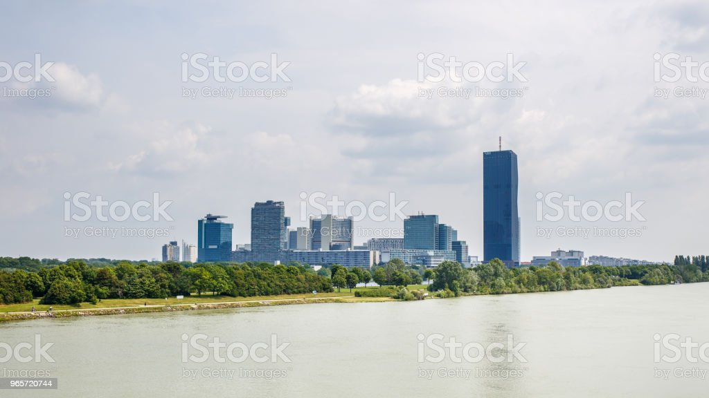 Panoramic view of UNO city in Vienna, Austria - Royalty-free Architecture Stock Photo