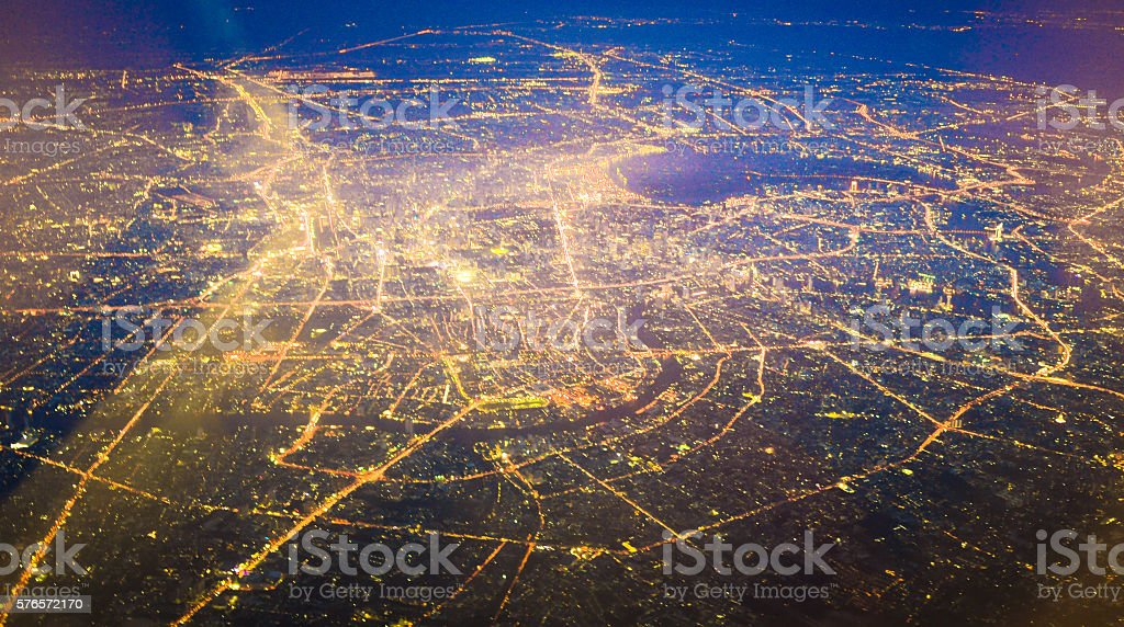 Panoramic view of urban landscape Bangkok thailand stock photo