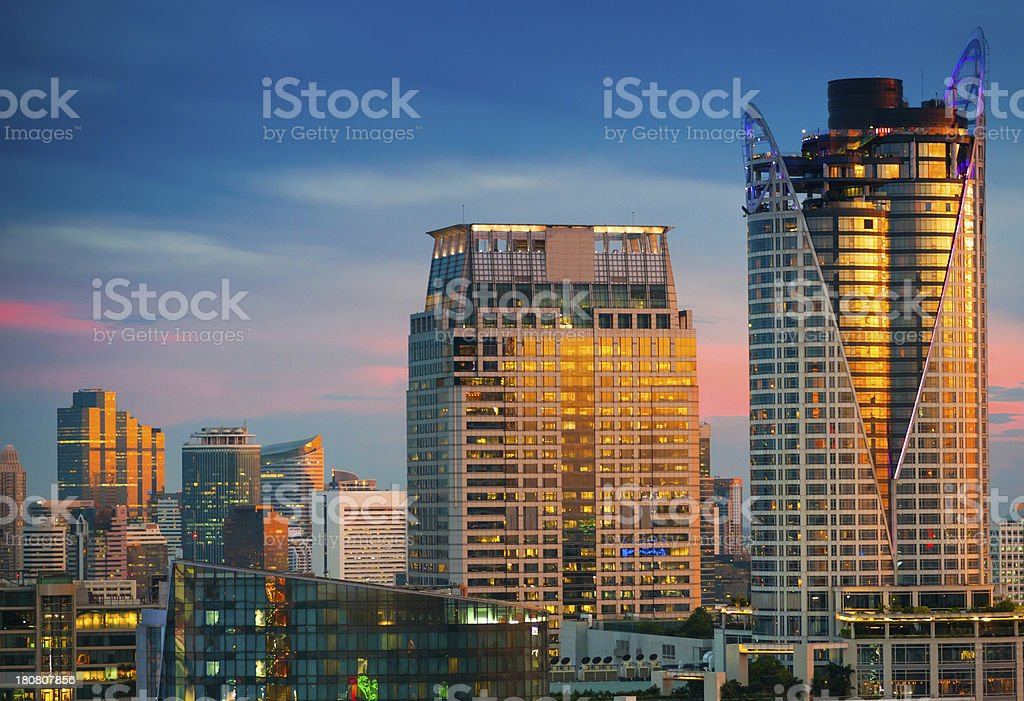 Panoramic view of urban landscape in Asia royalty-free stock photo