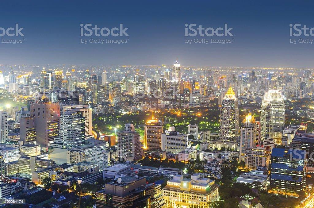 Panoramic view of urban landscape in Bangkok Thailand royalty-free stock photo