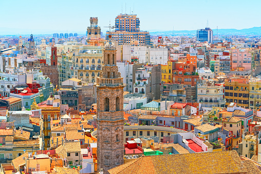 Panoramic view  of Valencia, is the capital of the autonomous community of Valencia and the third-largest city in Spain.