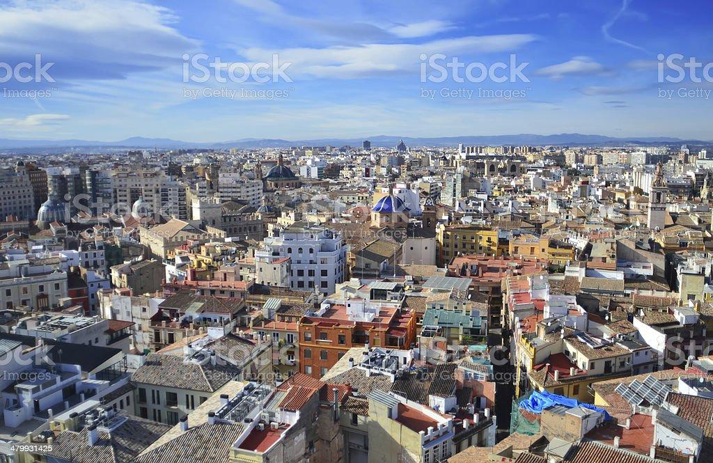 Panoramic view of Valencia, Spain stock photo