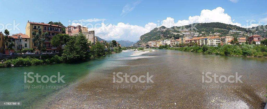 Panoramic view of Ventimiglia stock photo