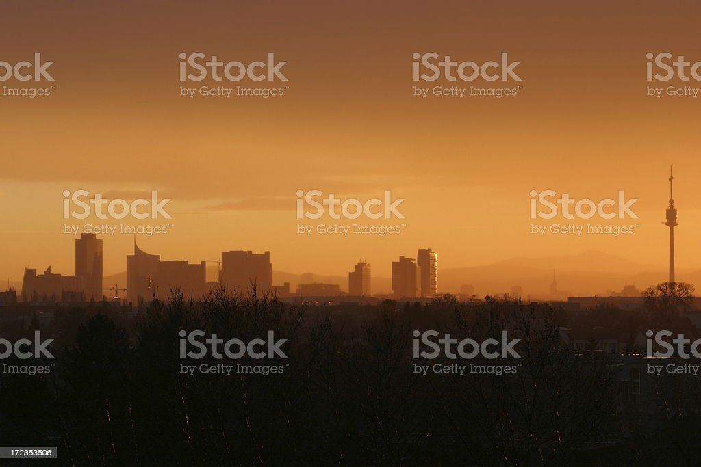 Vista panorámica de Viena, Austria foto de stock libre de derechos
