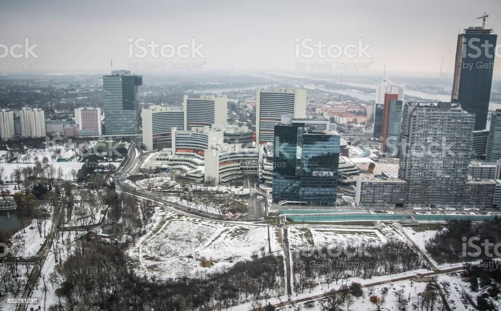 Panoramic view of Vienna stock photo
