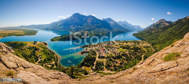 istock Panoramic View of Waterton and Lakes National Park, Alberta, Canada. 1279822794
