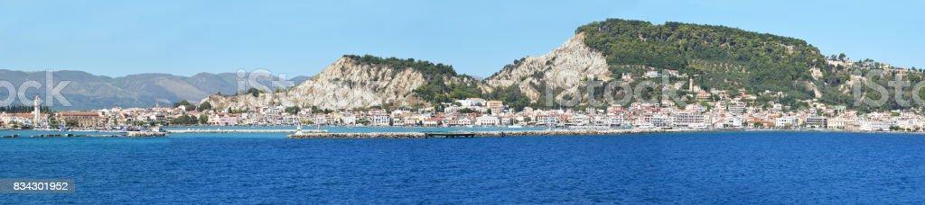 Panoramic view of Zakynthos stock photo