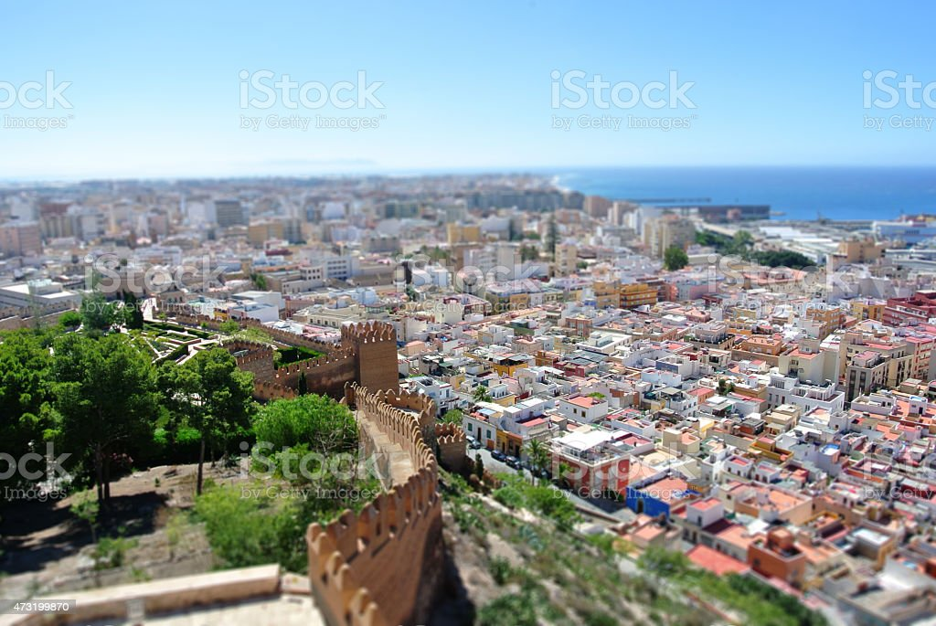 Panoramic view on Almeria, Andalusia stock photo