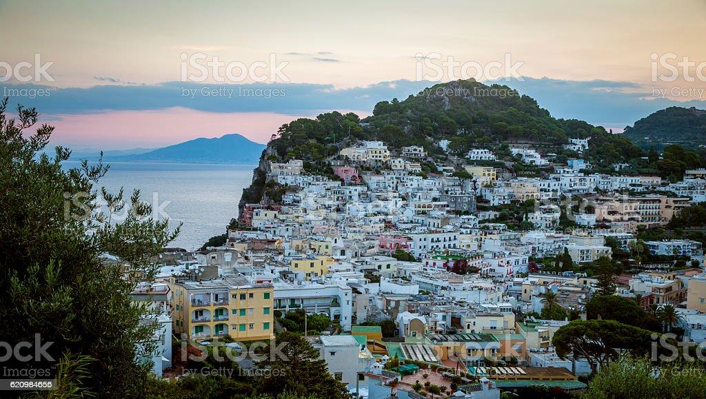 Panoramic view on Capri island, Campania, Italy foto royalty-free