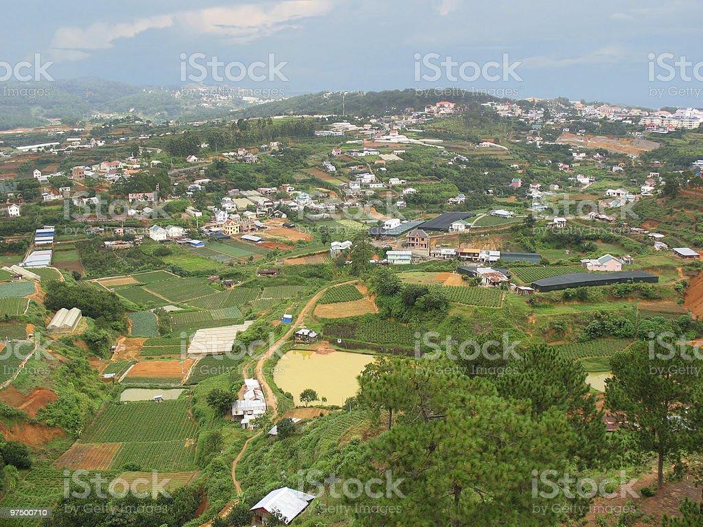 Panoramic view on Dalat city. Vietnam royalty-free stock photo