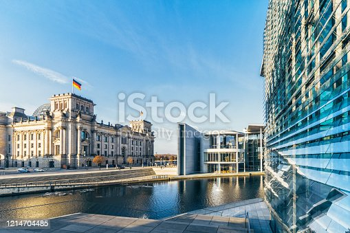 istock panoramic view on government district in Berlin 1214704485