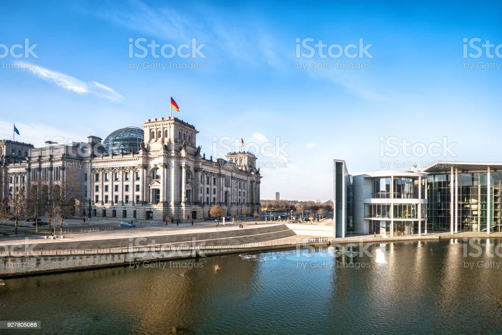 Panoramablick auf Regierungsviertel in Berlin – Foto