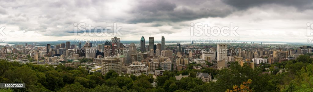 Panoramic view on Montreal, Canada stock photo