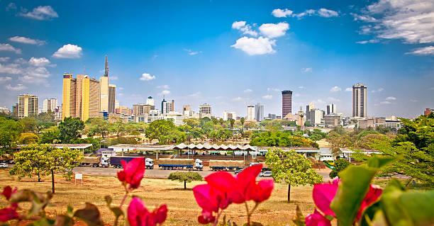 panoramic view on nairobi , kenia. - kenyan culture stock photos and pictures
