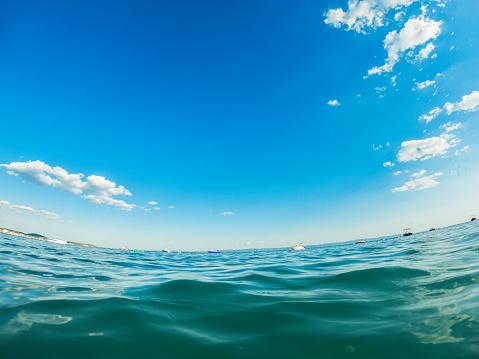 Panoramic view on sea
