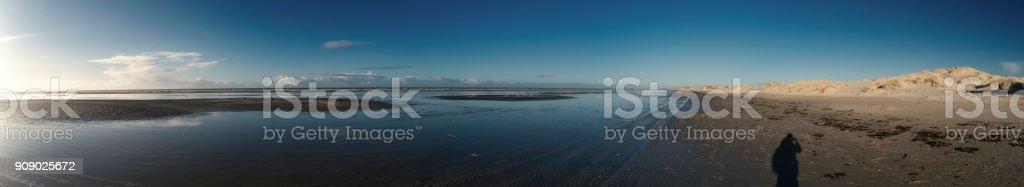 Panoramic View on the North Frisian Island Amrum in Germany stock photo