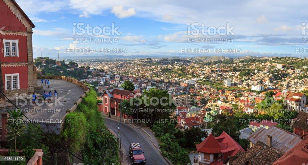 Panoramic view over Antananarivo, Madagascar stock photo