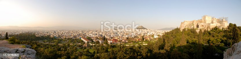 istock XXL Panoramic view over Athens with Acropolis and Ancient Agora 157328063