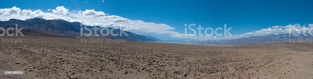 Panoramic view over Death Valley Desert, California royalty-free stock photo