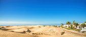 istock Panoramic view over Maspalomas Dunes - Gran Canaria 187336788