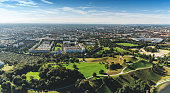 panoramic view over munich  at sunny day