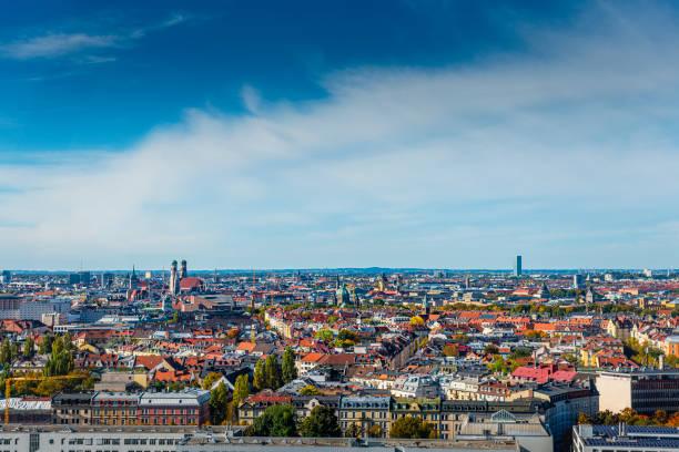 panoramic view over Munich stock photo