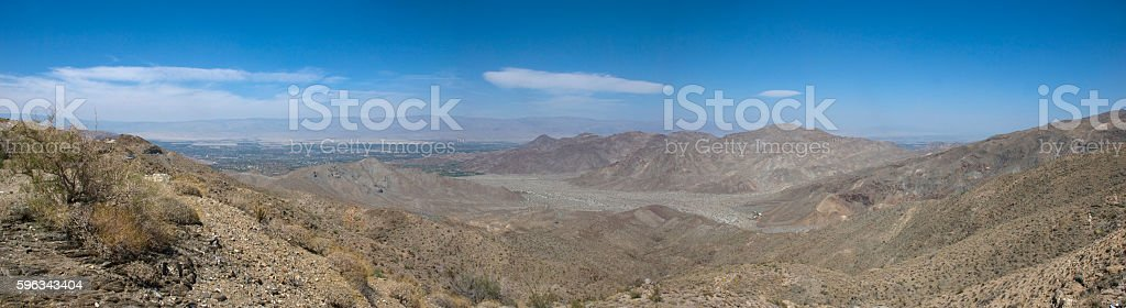 Panoramic view over Santa Rosa and San Jacinto Mountains royalty-free stock photo