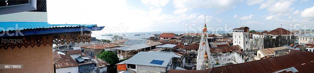 panoramic view over stone town, zanzibar royalty-free stock photo