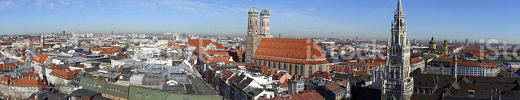 Panoramic view over wonderful Munich stock photo