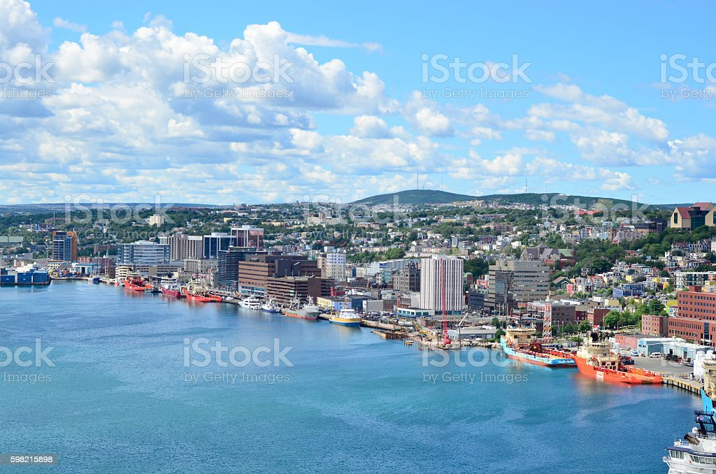 Panoramic view, St John's Harbour in Newfoundland Canada. foto royalty-free