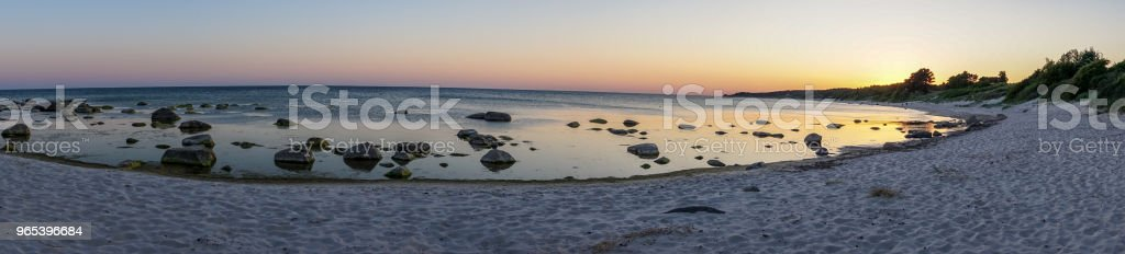 Panoramic view, sunset in Bornholm, Denmark on a day in summer zbiór zdjęć royalty-free
