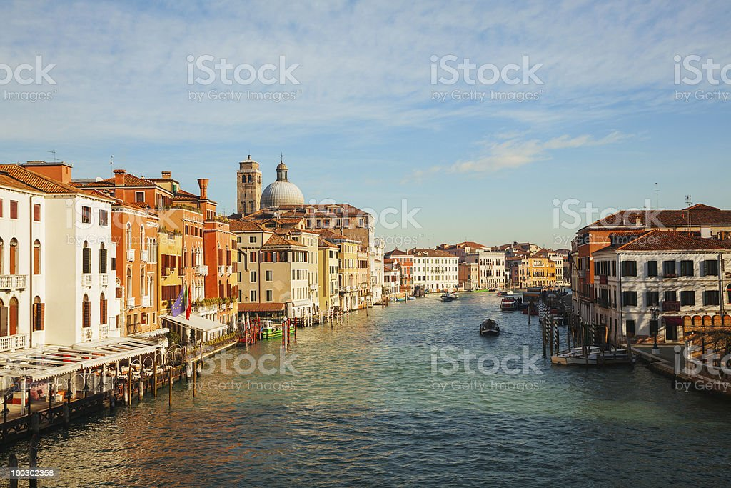 Panoramic view to Grande Canal in Venice, Italy royalty-free stock photo