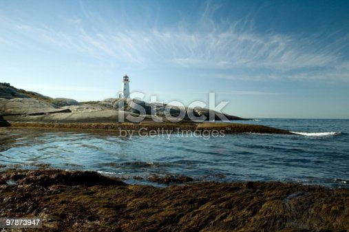 182421396 istock photo Panoramic view to Peggy`s Cove 97873947