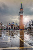 istock Panoramic view to St. Mark's Square in Venice, Italy. 1033913084