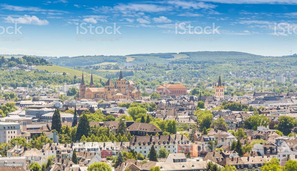 Panoramablick auf Trier Rheinland-Pfalz Deutschland – Foto