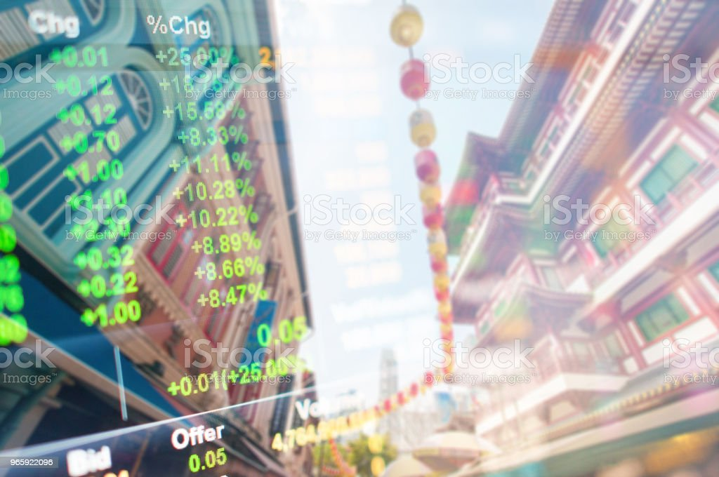 Panoramic view urban cityscape singapore with investment theme background - Royalty-free Artificial Intelligence Stock Photo
