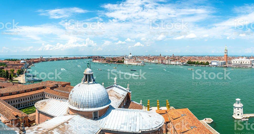 panoramic view Venice, Italy stock photo