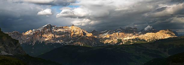 Panoramic view XXXL, Dolomites, Alta Badia Panoramic view XXXL, Alta Badia (Dolomites, italian Alps). high seat stock pictures, royalty-free photos & images
