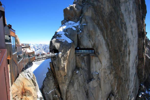Panoramique Regarde un plate-forme sur le haut de l'Aiguille du Midi - Photo
