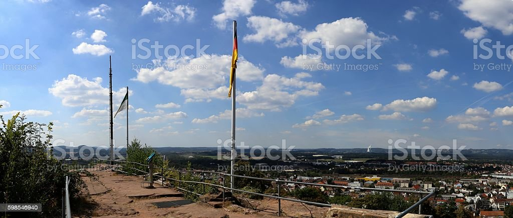 Panoramic views from Schlossberg in Homburg/Germany photo libre de droits